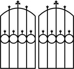 Iron Door Shaped Circle Download For Laser Cut Plasma Free CDR Vectors Art