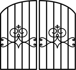 Iron Fence Gate Download For Laser Cut Plasma Free CDR Vectors Art