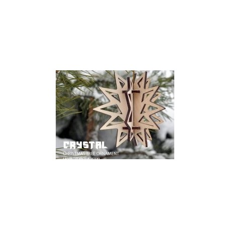 Crystal Tree Ornament Free DXF File