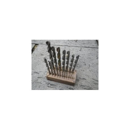 Drill Bit Holder Free DXF File