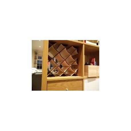 Wine Rack For Ikea Kallax Free DXF File