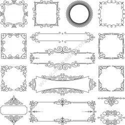 Linear Frame Set Free CDR Vectors Art