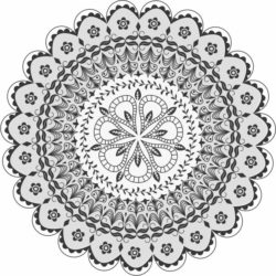 Mandala Download Print Or Laser Engraving Machines Free CDR Vectors Art
