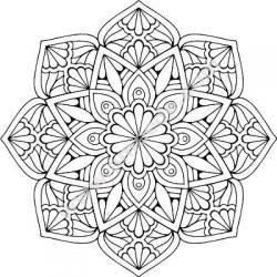 Mandala Floral Art Free CDR Vectors Art