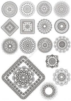 Mandala Ornaments Collection Free CDR Vectors Art