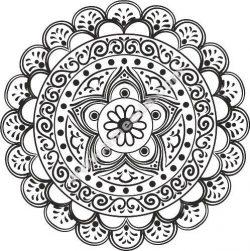 Mandala Star Free CDR Vectors Art