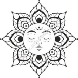Mandala Sun Flower Free CDR Vectors Art