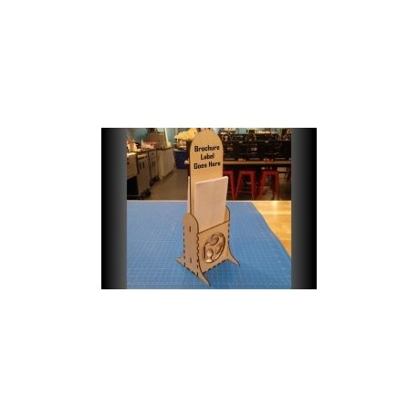 Brochure Stand Free DXF File