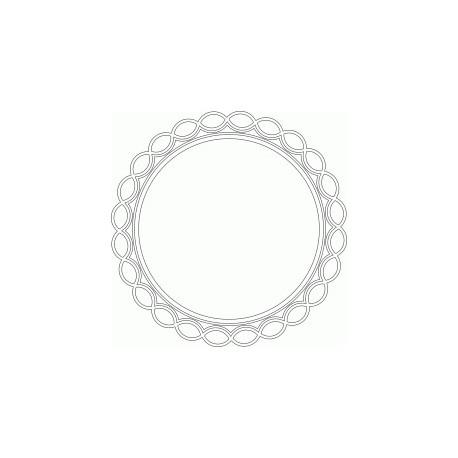 Circular Mirror Frame Free DXF File