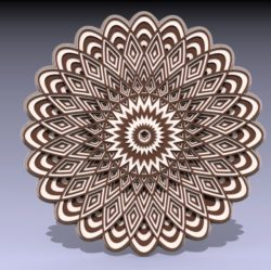 Multilayer Mandala Download For Laser Cut Free CDR Vectors Art