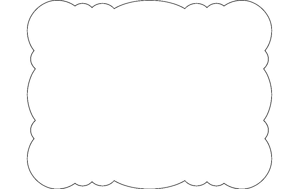Bubble Scalloped Rectangle Free DXF File