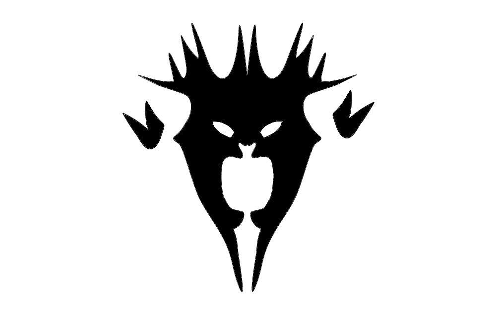 Demon Mask Free DXF File
