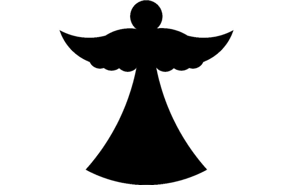 Angel Wt Free DXF File