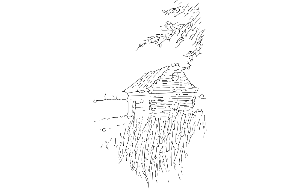 Cabin On The Plains Free DXF File