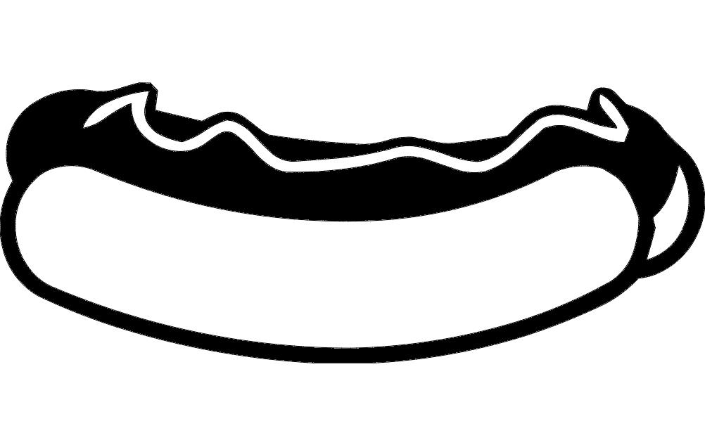 Hot Dog Free DXF File