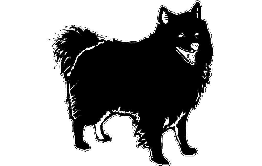 Little Dog Free DXF File