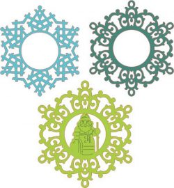 Picture Of Snowflakes Hanging From The Tree Download For Laser Cut Plasma Free CDR Vectors Art