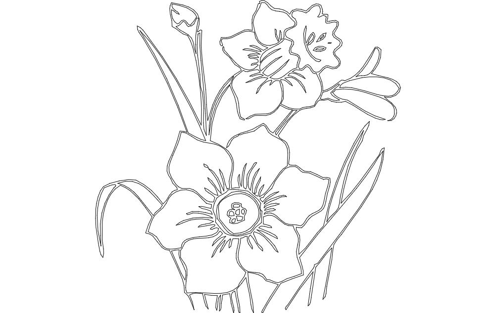 Flower Daf Free DXF File