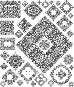 Square Cali Design Free CDR Vectors Art
