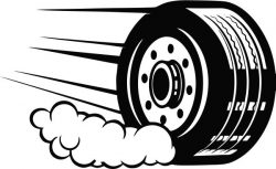 The Iconic Motivational Tire Is Often Found In The Garage Free CDR Vectors Art