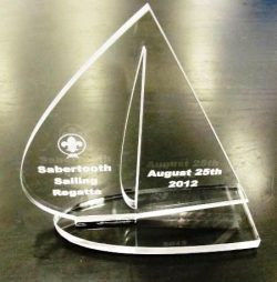Acrylic Trophy For Laser Cut Cnc Free DXF File