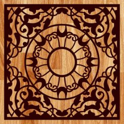 Carved Gift Box Pattern For Laser Cut Free DXF File