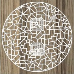 Chinese Round Door Vents For Laser Cut Cnc Free DXF File