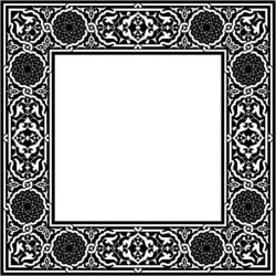 Classic Square Decorative Motifs For Laser Cut Cnc Free DXF File