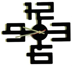 Interior Clock For Laser Cut Cnc Free DXF File