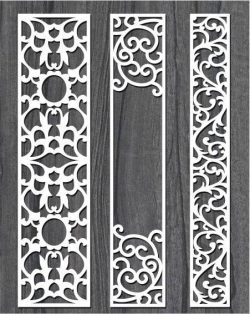 Screen Style Vertical Column For Laser Cut Cnc Free DXF File