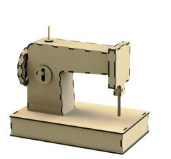 Sewing Machine For Laser Cut Cnc Free DXF File
