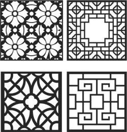 Window Divider Design Font For Laser Cut CNC Free DXF File