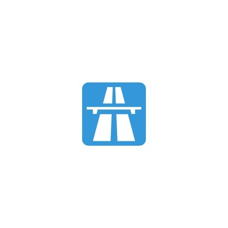 Road Sign Motorway Or Expressway Free DXF File