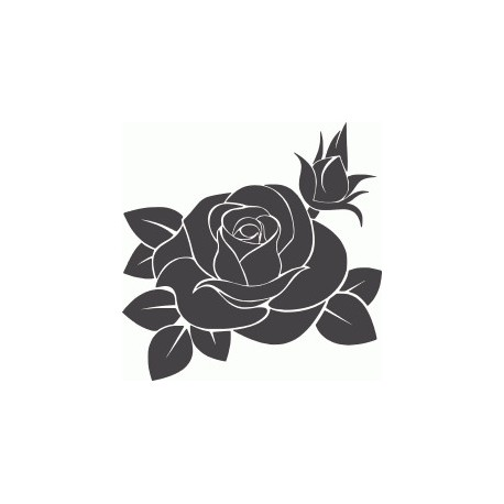 Rose Flower Silhouette Free DXF File
