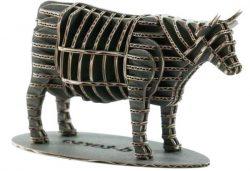 3d Model Wooden Cow For Laser Cut Cnc Free CDR Vectors Art