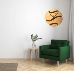 Basketball Shaped Wall Clock For Laser Cut Cnc Free CDR Vectors Art