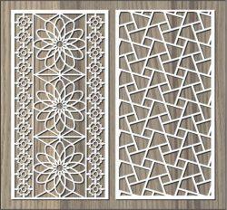 Broken Glass Pattern Wall Flower Pattern For Laser Cut Cnc Free CDR Vectors Art
