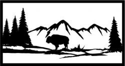 Bulls In The Forest For Laser Cut Plasma Free CDR Vectors Art