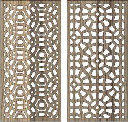 Circular Baffle Pattern For Laser Cut Cnc Free CDR Vectors Art