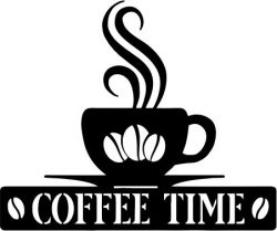 Coffee Time For Laser Cut Plasma Free CDR Vectors Art