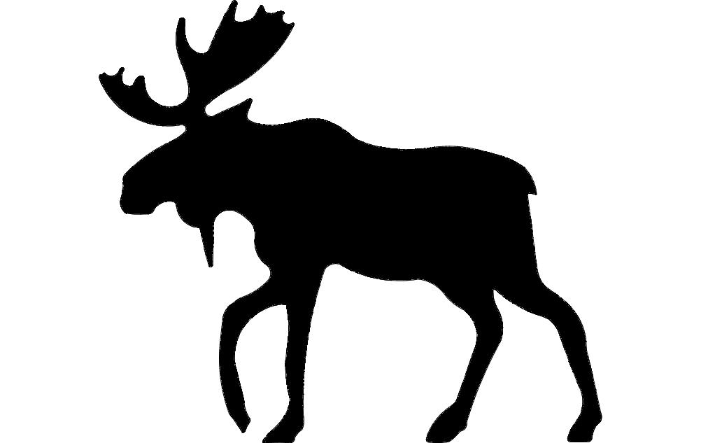 Alce Moose 4 Free DXF File
