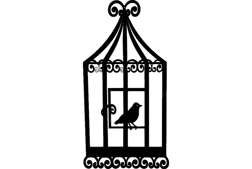 Bird Cage 2 Free DXF File