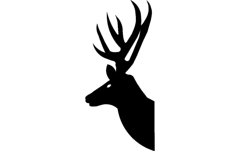 Deer Head Silhouette Classic Free DXF File