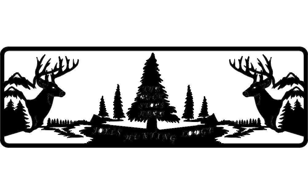 Deer Web Free DXF File