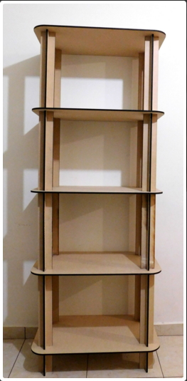Estante 5 Niveles Wooden Shelf Free DXF File
