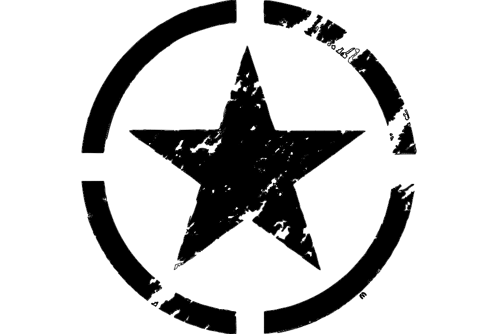 Estrela Militar Free DXF File