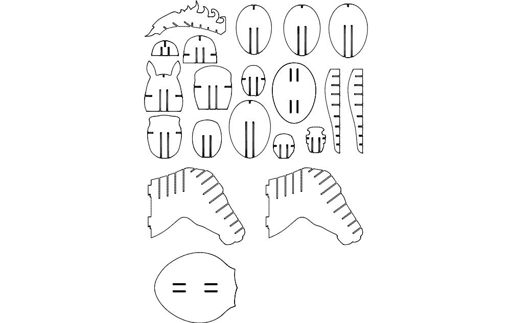 Kon 3D Puzzle Free DXF File