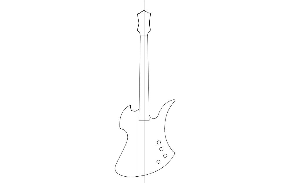 Mockingbird Guitar Free DXF File