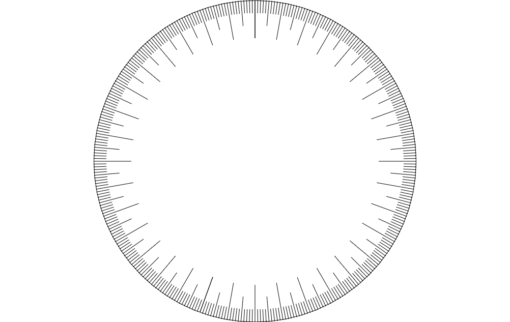360 Degree Wheel Free DXF File