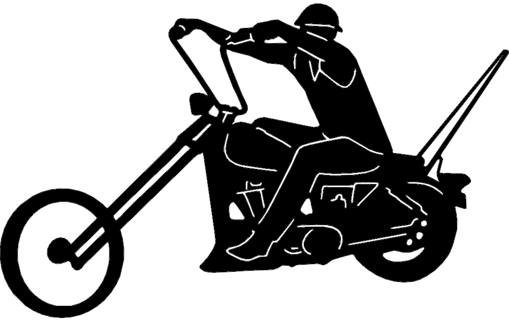 Chopper Motorcycle Free DXF File